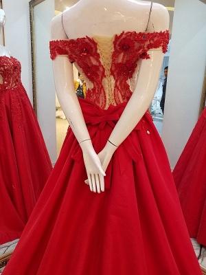vestidos de quincea_era fuera del hombro | Elegantes Apliques de una línea_4