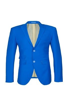 Océano azul traje casual | solapa pico soltero pecho novio_1