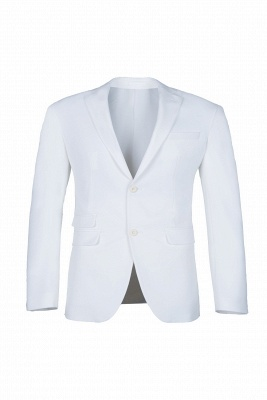 High Quality White Back Vent Two Button Casual Suit Chambelanes  Peak Lapel_1