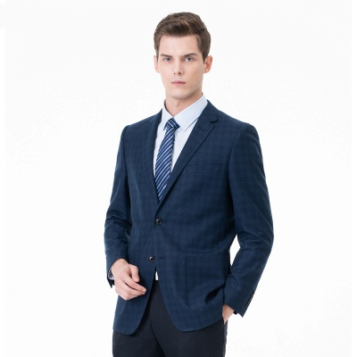 Lattice Two Button Peak Lapel Two Pieces with Pants Comfortable Chambelanes_3