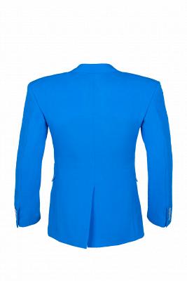 Un solo traje de novia de pecho | Solapa pico oceano azul Personalizar_4