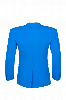 Peak Lapel Ocean Blue Customize Single Breasted Chambelanes Tuxedos_4