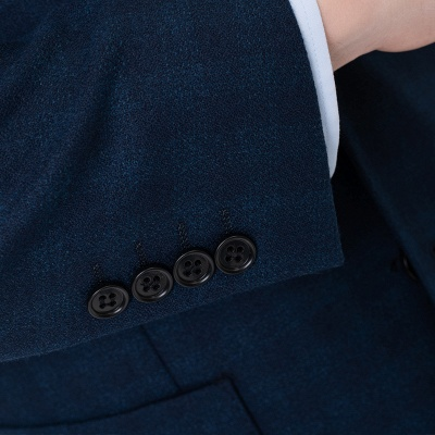 Lattice Two Button Peak Lapel Two Pieces with Pants Comfortable Chambelanes_6