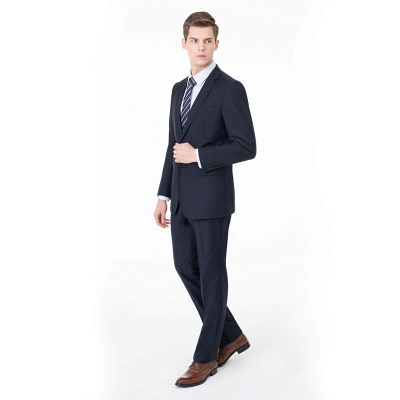 Peak Lapel Two Pieces with Pants Two Button Comfortable Casual Suits | Chambelanes tuxedos for my quince_1