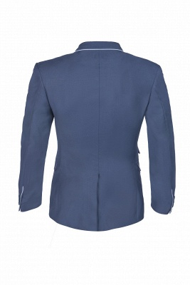 Popular Stylish Design Ink Blue Peak Lapel Two Button Chambelanes_5