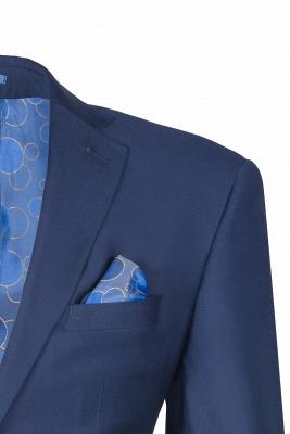 Fashion Royal Ink Blue Peak Lapel Back Vent quinceanera Prom Suits_3