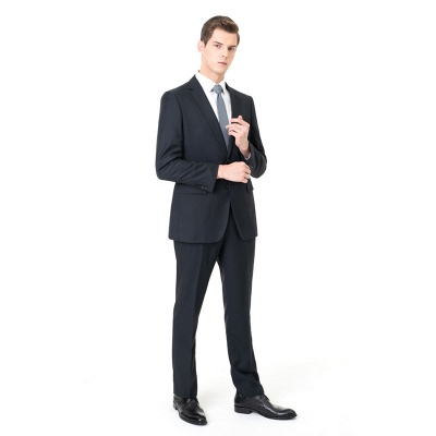 Custom Made Peak Lapel Two Pieces with Pants Casual Suits | Custom Made Chambelanes Tuxedos Online_2