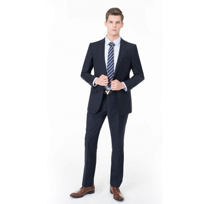 Peak Lapel Two Pieces with Pants Two Button Comfortable Casual Suits | Chambelanes tuxedos for my quince_3
