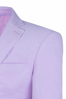 Custom Made Hot Recommend Lavender Peak Lapel Single Breasted Chambelanes Tuxedos_5