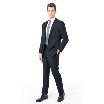 Custom Made Peak Lapel Two Pieces with Pants Casual Suits | Custom Made Chambelanes Tuxedos Online_1