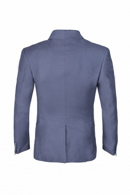Shawl Lapel Two Button Back Vent Light Grey Single Breasted Casual Suit_5