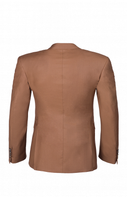 Brown Peak Lapel Customize Double Breasted Chambelanes  Popular Chambelanes Tuxedos_5
