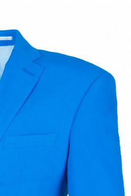 Peak Lapel Ocean Blue Customize Single Breasted Chambelanes Tuxedos_3