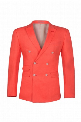 High Quality Latest Design Watermelon Peak Lapel Chambelanes Tuxedos Back Vent_1