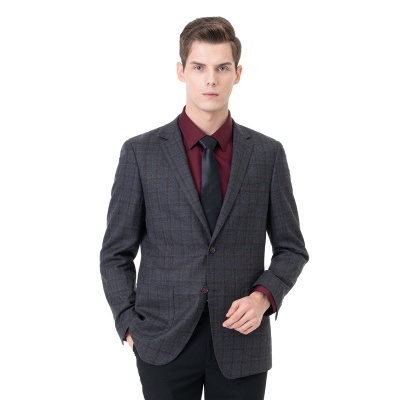 Career Suits Two Button Single Breasted Lattice Peak Lapel| Custom Made Chambelanes Tuxedos Online_3
