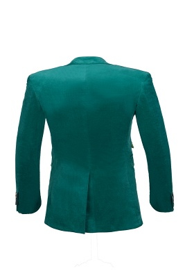 Customize Hot Recommend Single Breasted Peak Lapel Turquoise Chambelanes_5