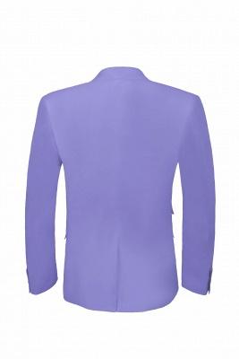 Lavender Peak Lapel Hot Recommend Back Vent Two Button Casual Suit_6