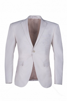 Customize Casual Suit Chambelanes  Ivory Peak Lapel Single Breasted High Quality_1