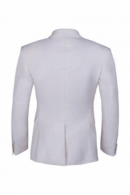 Customize Casual Suit Chambelanes  Ivory Peak Lapel Single Breasted High Quality_5