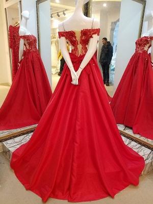 vestidos de quincea_era fuera del hombro | Elegantes Apliques de una línea_2