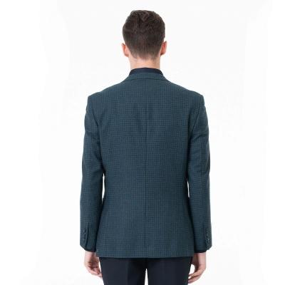Customize Lattice Two-piece Suit Peak Lapel Single Breasted Career Suits | Chambelanes tuxedos for my quince_2