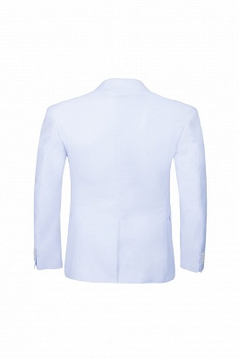 quinceanera Prom Suits White Peak Lapel Two Button Single Breasted_5