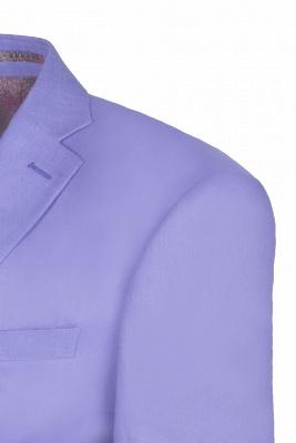 Lavender Peak Lapel Hot Recommend Back Vent Two Button Casual Suit_5