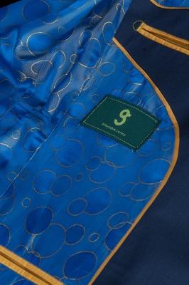 Fashion Royal Ink Blue Peak Lapel Back Vent quinceanera Prom Suits_6