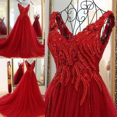 Elegantes vestido largo de quincea_era | correas cari_o abalorios en cuello redondo_1