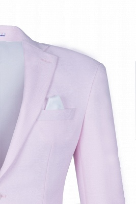 Candy Pink High Quality Single Breasted Peak Lapel Chambelanes Tuxedos_1