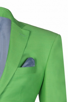 Popular Stylish Design Jade Single Breasted Back Vent Peak Lapel | Chambelanes tuxedos for my quince_1