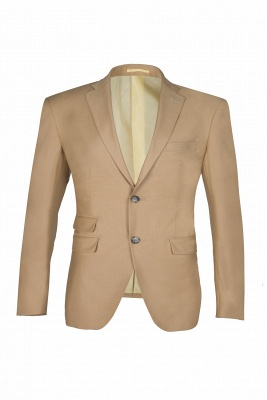 Latest Design Two Button Nude Color Peak Lapel Chambelanes Chambelanes Tuxedos_1