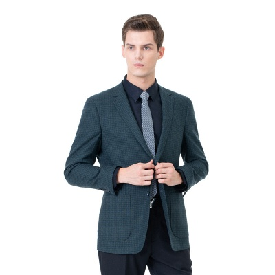Customize Lattice Two-piece Suit Peak Lapel Single Breasted Career Suits | Chambelanes tuxedos for my quince_3