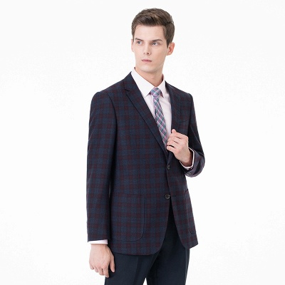 Lattice Peak Lapel Two Pieces with Pants Single Breasted Chambelanes Tuxedos_2