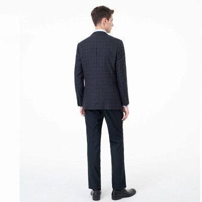 Slim Fit Peak Lapel Two-piece Suit Lattice Casual Suits | Chambelanes tuxedos for my quince_3