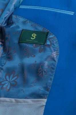 Peak Lapel Ocean Blue Customize Single Breasted Chambelanes Tuxedos_5