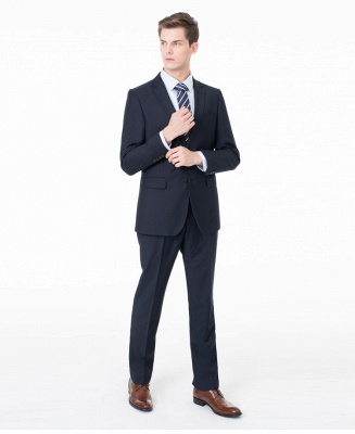Peak Lapel Two Pieces with Pants Two Button Comfortable Casual Suits | Chambelanes tuxedos for my quince_6