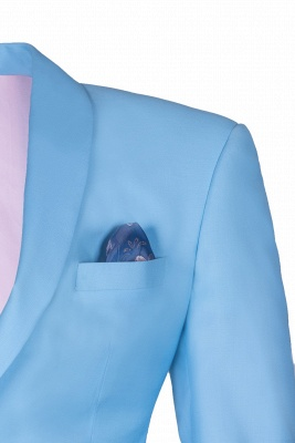 Custom Made Pool Shawl Lapel Two Button Single Breasted Chambelanes Tuxedos_3