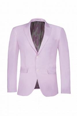 Latest Design Candy Pink Two Button Back Vent Peak Lapel Chambelanes_1