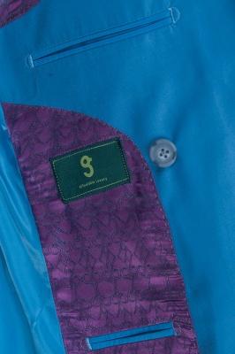 Traje Casual Azul Marino Personalizar | Padrinos de boda Pico solapa doble pecho_5