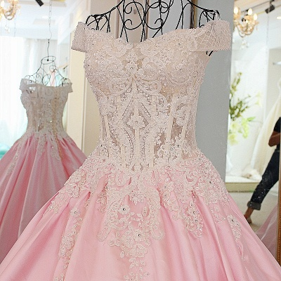 Off-the-Shoulder Sweetheart Appliques Quinceanera Dress_2