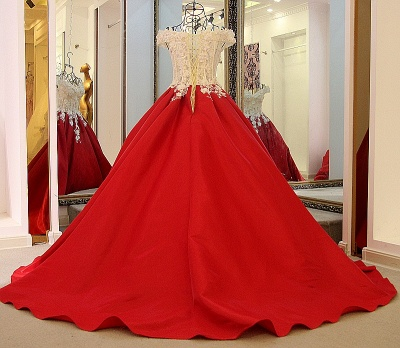 Stylish Off the Shoulder Sweetheart Quinceanera Dress_3