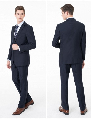 Peak Lapel Two Pieces with Pants Two Button Comfortable Casual Suits | Chambelanes tuxedos for my quince_7