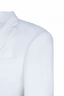 High Quality White Back Vent Two Button Casual Suit Chambelanes  Peak Lapel_4
