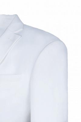 traje casual padrinos de boda pico solapa | De alta calidad de espalda blanca de ventilación de dos botones_4