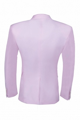 Latest Design Candy Pink Two Button Back Vent Peak Lapel Chambelanes_6