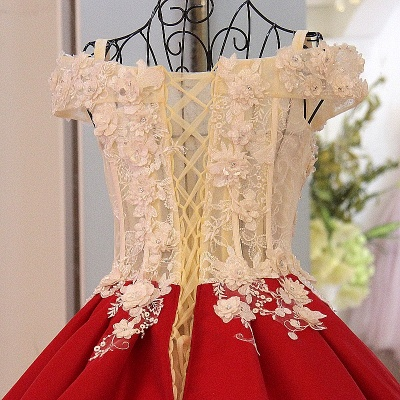 Stylish Off the Shoulder Sweetheart Quinceanera Dress_4