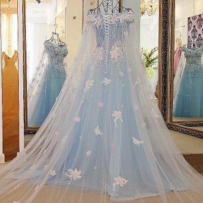 Off the Shoulder Appliques Sweetheart Quinceanera Dress_2