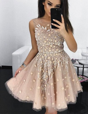 Stylish Quinceanera Appliques Jewel Tulle Sleeveless Dama Dress_1