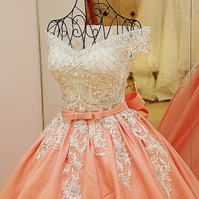 Off-the-shoulder Beading Ball Gown Quinceanera Dresses with Sash_4